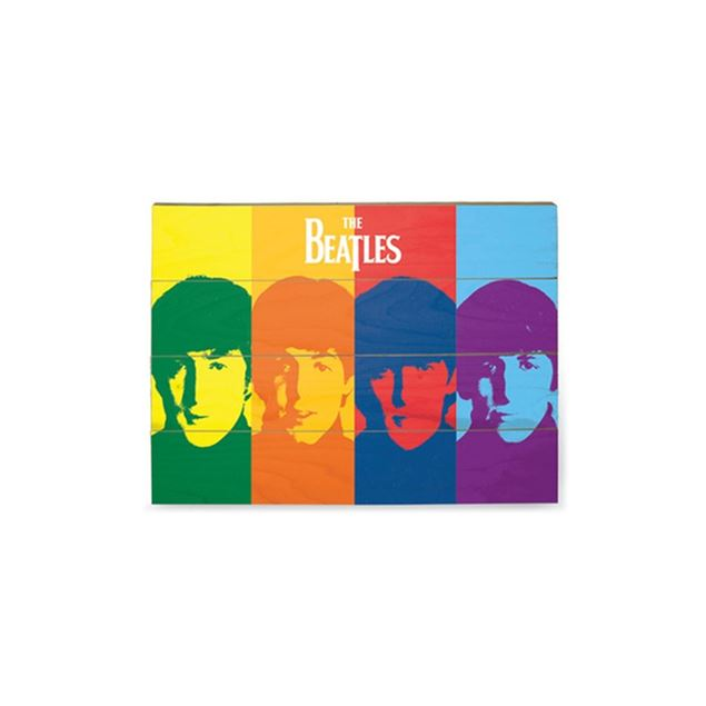 Picture of PLACA MADEIRA THE BEATLES - POP ART