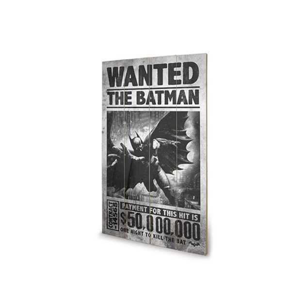 Picture of PLACA MADEIRA BATMAN - WANTED