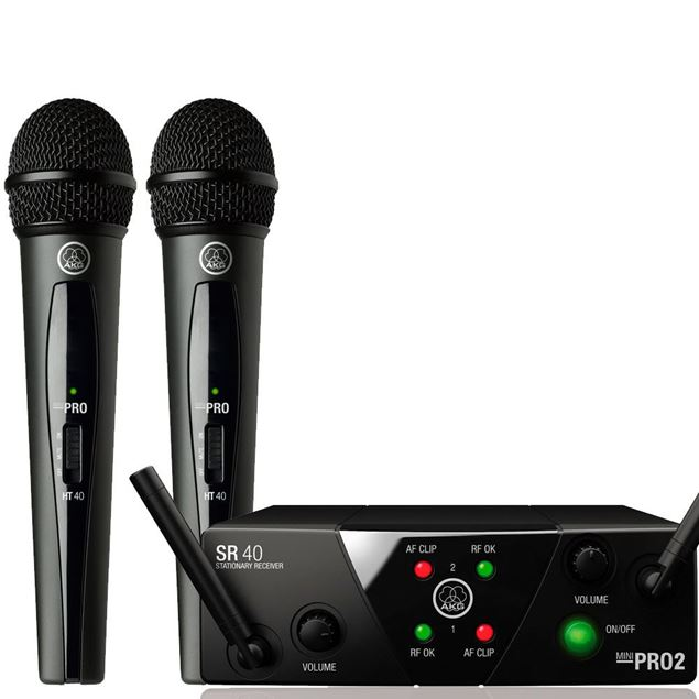 Picture of MICROFONES WIRELESS AKG - WMS40 MINI DUAL VOCAL