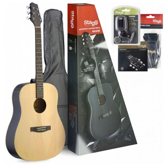 Picture of PACK GUITARRA ACUSTICA STAGG - SA30D-N PACK