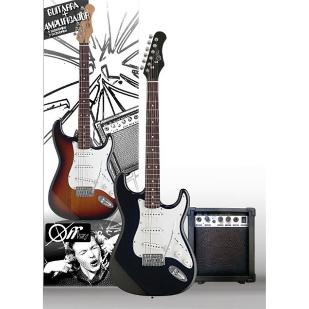 Picture of PACK GUITARRA ELÉCTRICA OFFKEY - PEG01-BK