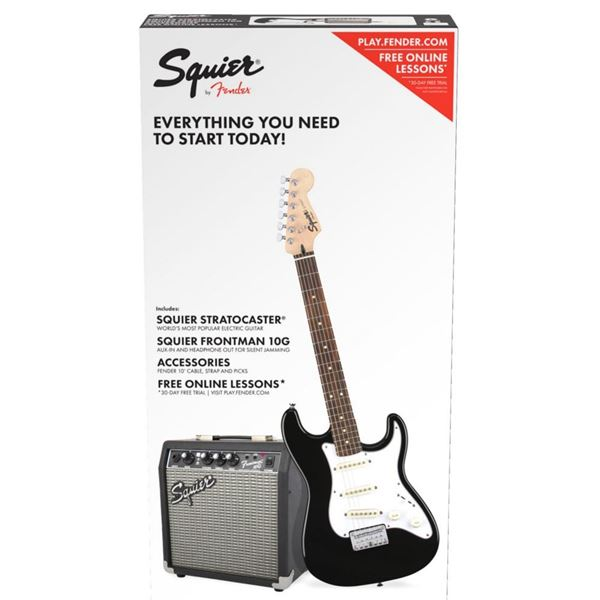 Picture of PACK GUITARRA ELECTRICA SQUIER - STRAT SS SQ 10G BLK