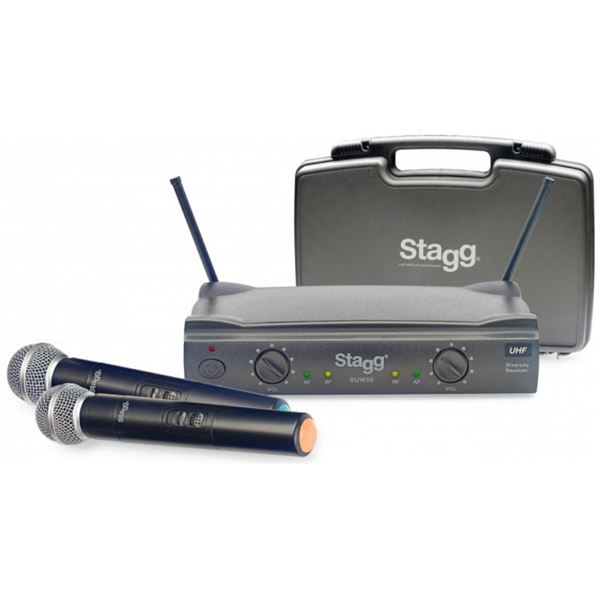 Picture of MICROFONE WIRELESS x2 STAGG - SUW 50 MM EG EU