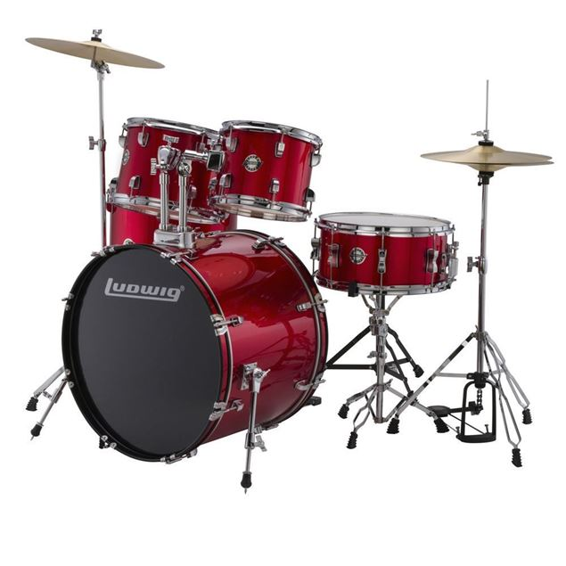 Picture of BATERIA ACUSTICA LUDWIG - ACCENT DRIVE RED