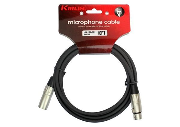 Picture of CABO MICROFONE 6M KIRLIN - MPC-480-6M/BK