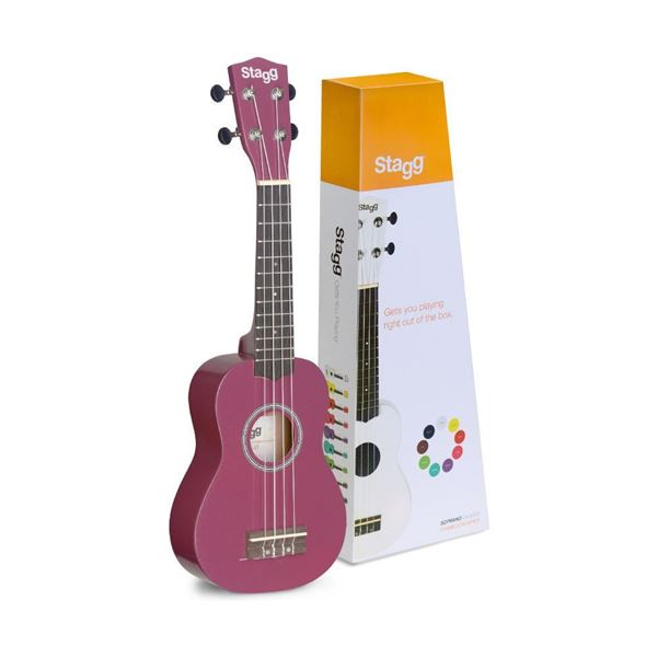 Picture of UKULELE SOPRANO STAGG - US-VIOLET