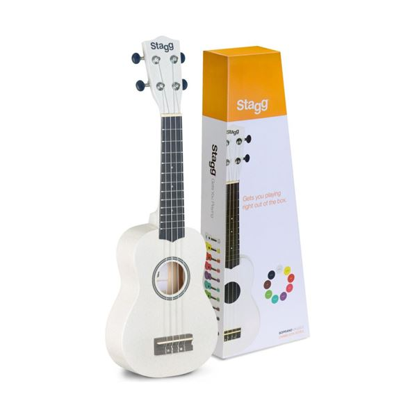 Picture of UKULELE SOPRANO STAGG - US-WHITE